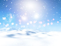 paesaggio nevoso 3D illustrazione vettoriale