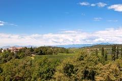 Paesaggio nordico dell'Italia Fotografie Stock Libere da Diritti