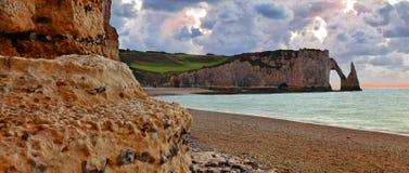 Paesaggio in Normandia Fotografia Stock