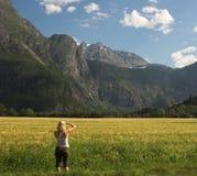 Paesaggio norvegese Fotografia Stock