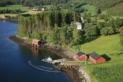 Paesaggio norvegese Fotografie Stock