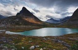 Paesaggio norvegese della montagna Fotografie Stock