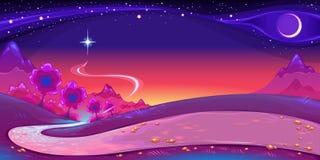 Paesaggio notturno illustrazione vettoriale