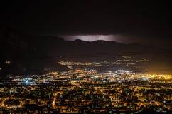 Paesaggio notturno Fotografia Stock