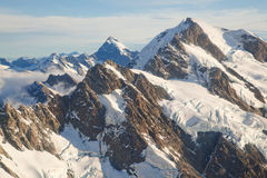 Paesaggio Nuova Zelanda dell'intervallo del cuoco della montagna Immagine Stock Libera da Diritti