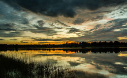 Paesaggio, nuvola, fondo, variopinto, tramonto immagine stock