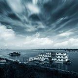 Paesaggio nuvoloso Fotografie Stock Libere da Diritti