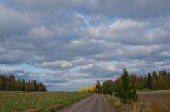 Paesaggio nuvoloso Immagini Stock