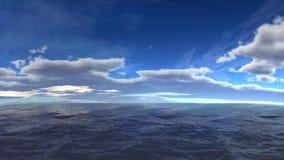 Paesaggio nuvoloso dell'oceano Immagini Stock