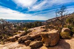 Paesaggio occidentale di roccia incantata, il Texas Fotografie Stock Libere da Diritti