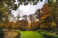 Paesaggio olandese del lato del paese in autunno fotografie stock
