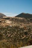Paesaggio Olvera esterna, Spagna dello Spagnolo Immagine Stock