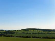 Paesaggio ondulato Fotografia Stock
