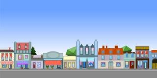 Paesaggio orizzontale di Città Vecchia con il posto per testo Fotografia Stock