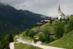 Paesaggio Ost Tirol Immagine Stock