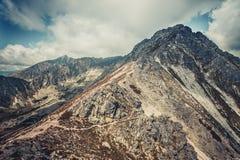 Paesaggio pacifico nelle tonalità di grey blu Tatras Fotografia Stock