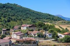Paesaggio in Paese Basco, Spagna immagini stock