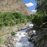 Paesaggio Pakistan fotografie stock