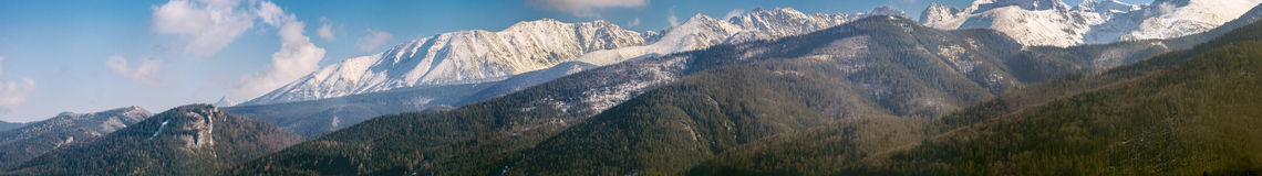 Paesaggio panaromaic della montagna di Tatra Fotografia Stock