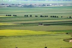 Paesaggio panoramico con la casa isolata Immagine Stock Libera da Diritti