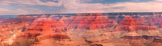 Paesaggio panoramico del grande canyon Fotografie Stock