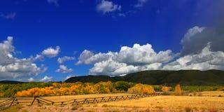 Paesaggio panoramico del paese del Wyoming Fotografia Stock