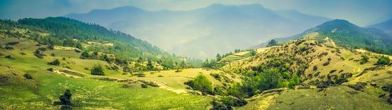 Paesaggio panoramico della montagna Immagini Stock Libere da Diritti