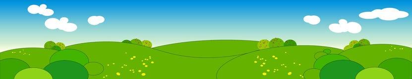 Paesaggio panoramico di estate. Fotografia Stock