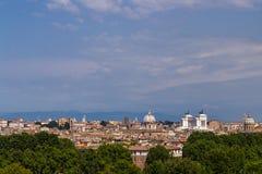 Paesaggio panoramico di Roma Fotografie Stock Libere da Diritti