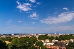 Paesaggio panoramico di Roma Fotografia Stock