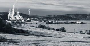 Paesaggio panoramico monocromatico norvegese Fotografia Stock Libera da Diritti