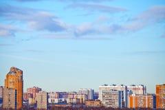 Paesaggio panoramico urbano Immagini Stock Libere da Diritti