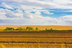 Paesaggio pastorale americano, generatore eolico fotografie stock libere da diritti
