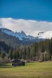 Paesaggio pastorale delle alpi svizzere Immagine Stock Libera da Diritti