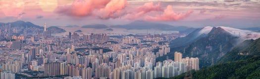 Paesaggio per la città di Hong Kong Immagine Stock