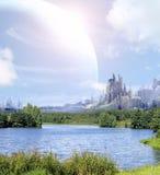 Paesaggio in pianeta di fantasia immagini stock libere da diritti