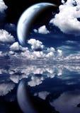 Paesaggio in pianeta di fantasia Fotografia Stock