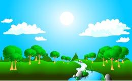 Paesaggio pieno di sole Immagine Stock