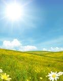 paesaggio pieno di sole Immagini Stock Libere da Diritti
