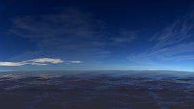 Paesaggio pieno di sole dell'oceano Fotografie Stock