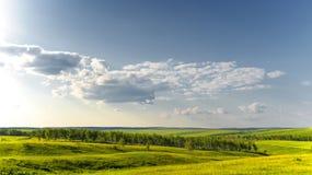 Paesaggio pieno di sole di estate Fotografia Stock