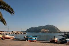 Paesaggio pieno di sole siciliano Fotografia Stock Libera da Diritti