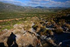 Paesaggio pietroso approssimativo del Peloponneso, Grecia Fotografia Stock