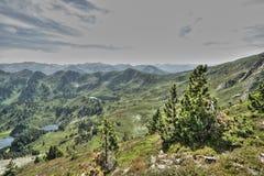 Paesaggio pirenaico in Ariege, Occitanie nel sud della Francia Fotografie Stock Libere da Diritti