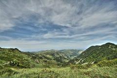 Paesaggio pirenaico in Ariege, Occitanie nel sud della Francia Immagine Stock