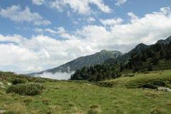 Paesaggio pirenaico in Ariege, Occitanie nel sud della Francia Fotografie Stock
