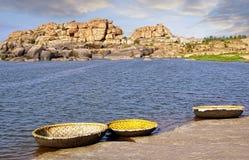 Paesaggio pittoresco della natura Hampi, India Immagine Stock