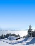 Paesaggio pittoresco di inverno di mattina, alpi austriache Fotografie Stock
