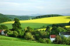 Paesaggio polacco della campagna Immagine Stock