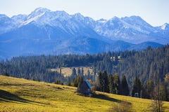 Paesaggio polacco delle montagne di Tatra Fotografie Stock Libere da Diritti
